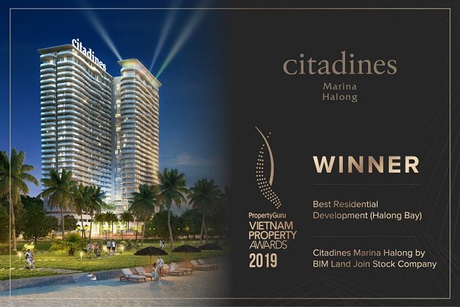 Dự án Citadines Marina Halong đã giành chiến thắng ở hạng mục giải thưởng Best Residential Development (Halong Bay)