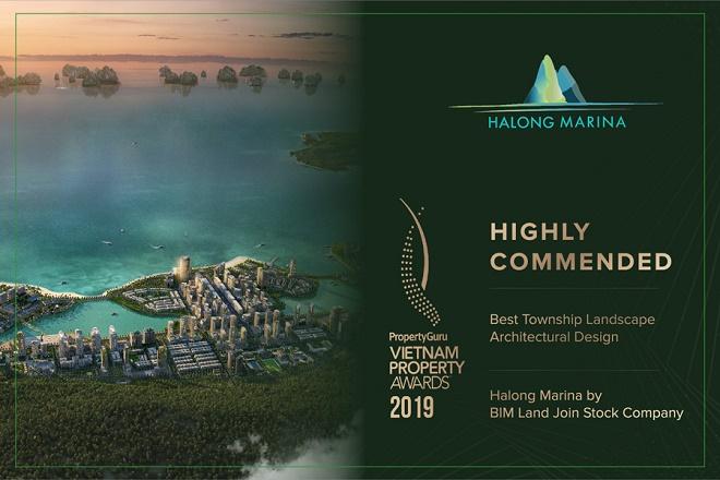 Khu đô thị Halong Marina được vinh danh tại hạng mục Highly Commended Best Township Landscape Architectural Design - Thiết kế cảnh quan khu đô thị đẹp nhất.