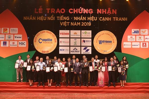 Lễ trao chứng nhận Nhãn hiệu nổi tiếng Việt Nam 2019