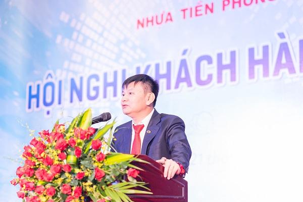 Ông Đặng Quốc Dũng - Chủ tịch HĐQT CTCP Nhựa Thiếu niên Tiền Phong phát biểu tại hội nghị khách hàng 2019