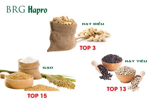 03 mặt hàng xuất khẩu chủ lực của Hapro