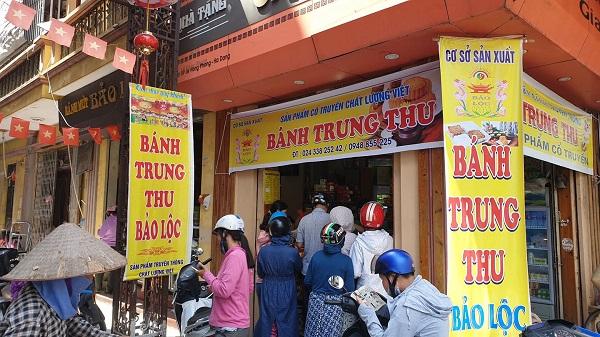 Cơ sở bánh trung thu Bảo Lộc có địa chỉ tại số 59 Lê Hồng Phong, phường Nguyễn Trãi, quận Hà Đông, Hà Nội