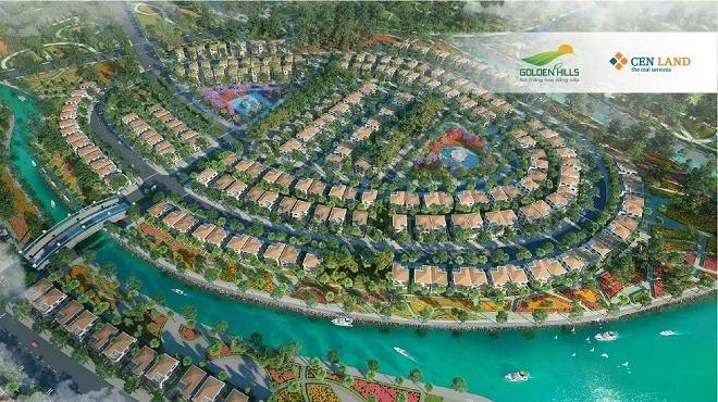 Phối cảnh Golden Hills – một dự án đất nền quy mô khoảng 400ha tại Tây Bắc, TP. Đà Nẵng.