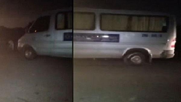 Chiếc xe nơi mà tài xe Nguyễn Minh Hòa tử vong do sốc ma túy