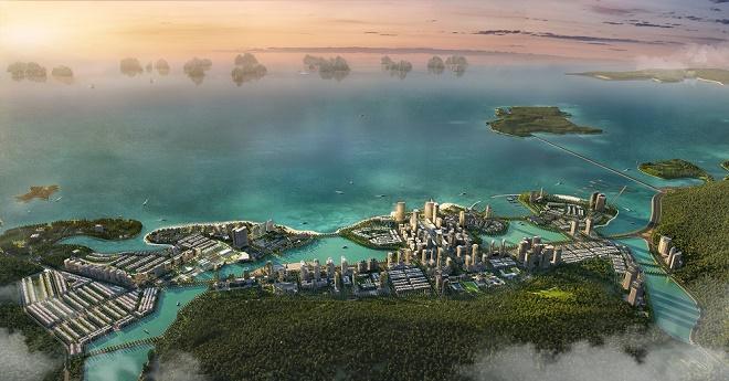 Halong Marina được chú trọng đầu tư về cảnh quan đô thị và các dự án hợp phần theo phân khu đặc trưng, rõ ràng