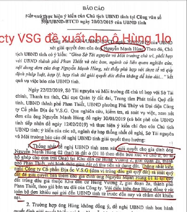 Biên bản họp báo cáo đề xuất phương án xử lý cho ông Nguyễn Mạnh Hùng vậy còn với các hộ dân khác?