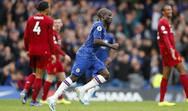 Kante ghi bàn rút ngắn tỷ số xuống còn 1-2 cho Chelsea
