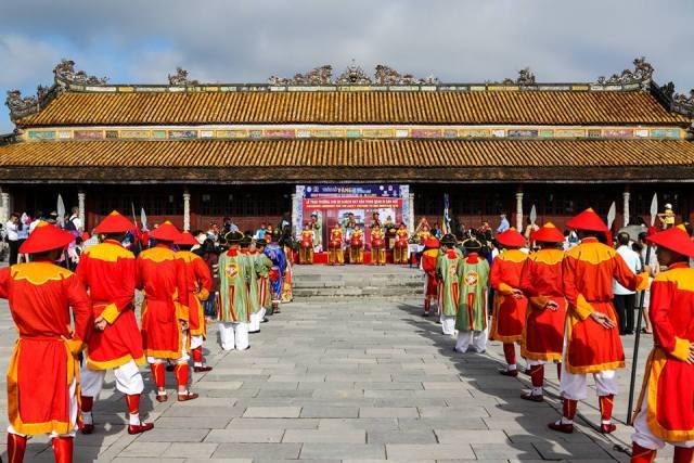 Một hoạt động nghi lễ tại Đại Nội- Huế