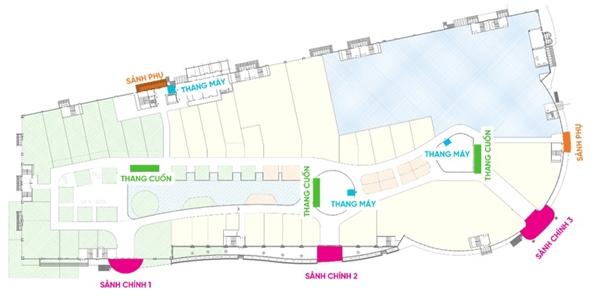 Quy hoạch của Vincom Mega Mall kết hợp được sự tối ưu không gian của gian hàng và thời gian trải nghiệm cho khách hàng
