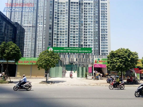 Dự án đầu tư xây dựng Trung tâm giới thiệu sản phẩm ngành nghề truyền thống và Dịch vụ kinh tế hợp tác, hợp tác xã nằm trên khu đất thuộc góc đường Phạm Hùng – Dương Đình Nghệ