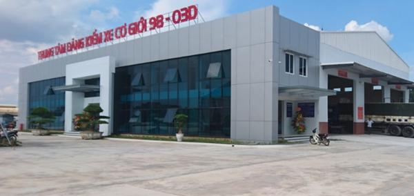 Trung tâm đăng kiểm 98-03D Bắc Giang đã bị thu hồi giấy phép hoạt động kiểm định (Ảnh: Báo Giao thông)