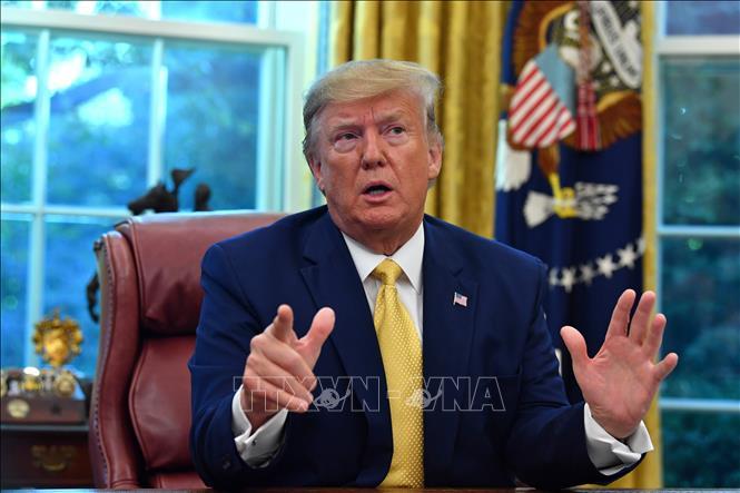Tổng thống Mỹ Donald Trump phát biểu tại Washington, DC ngày 11/10/2019