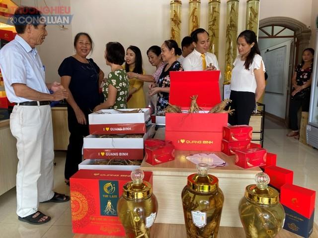 Sản phẩm sâm Bố Chính được UBND tỉnh Quảng Bình giới thiệu tại chương trình OCOP tại Nam Định