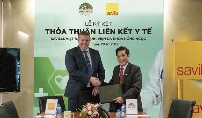 Savills Việt Nam kí kết thỏa thuận liên kết y tế  với bệnh viện đa khoa Hồng Ngọc