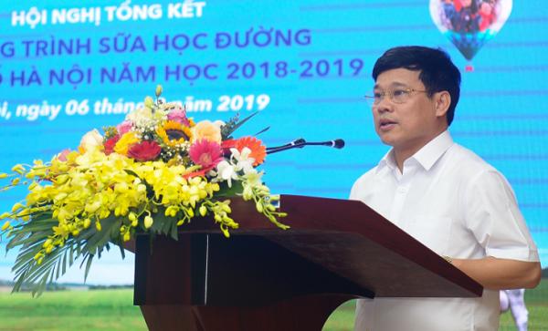 Ông Ngô Văn Quý, Phó chủ tịch UBND Thành phố Hà Nội khẳng định: Năm học mới, Hà Nội tiếp tục tăng cường công tác lãnh đạo, chỉ đạo, phối hợp với các cấp, các ngành liên quan để đạt tỷ lệ trên 90% học sinh tham gia chương trình SHĐ.