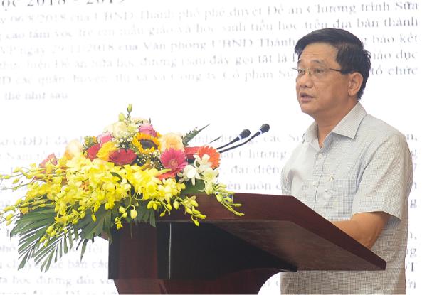 Ông Phạm Xuân Tiến, Phó giám đốc Sở Giáo dục và Đào tạo Hà Nội khẳng định: Vấn đề an toàn và chất lượng phải đặt lên hàng đầu để người dân yên tâm, tin tưởng và tự nguyện đăng ký cho trẻ tham gia Chương trình Sữa học đường.