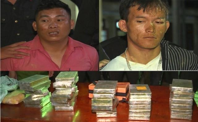 Đối tượng Hạng A Chinh và Giàng Seo Chỉnh bị bắt giữ cùng tang vật ma túy