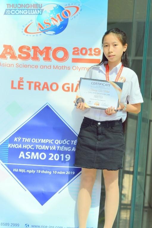 Bạn Trương Tuệ Minh học lớp 7A1 đạt thành tích cao tại vòng 2 kỳ thi ASMO năm 2019.