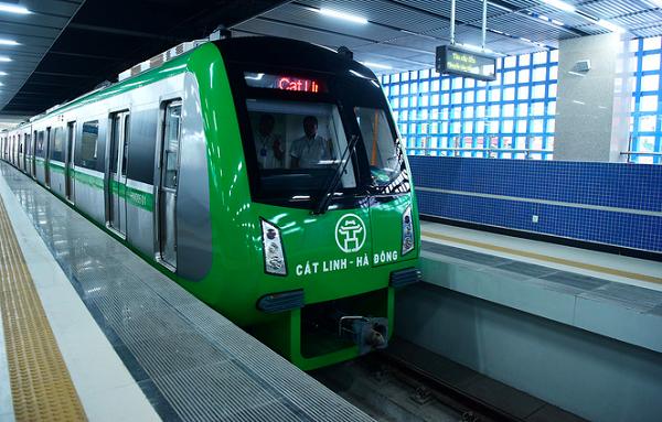 Tàu điện tuyến Cát Linh - Hà Đông chạy thử để nghiệm thu ngày 29/10