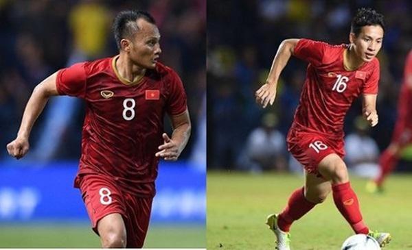 Tiền vệ Đỗ Hùng Dũng (1993) và Nguyễn Trọng Hoàng (1989) được HLV Park chọn tham dự SEA Games cùng U22 Việt Nam