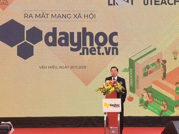 Ông Lê Doãn Hợp - Chủ tịch hiệp hội công nghệ số phát biểu tại buổi lễ