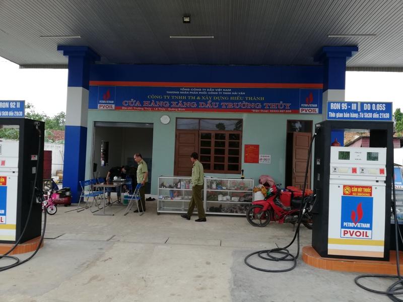 Cửa hàng xăng dầu Trường Thuỷ, nơi phát hiện vi phạm