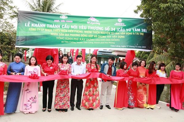Khánh thành hai cây cầu số 34 và số 35 trong chương trình cầu nối yêu thương tại huyện Tiên Lãng