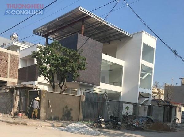 công trình xây dựng trái phép của hộ gia đình nhà ông Tuấn tại khu vực Đồng Xá, phường Thành Tô (quận Kiến An, Hải Phòng)