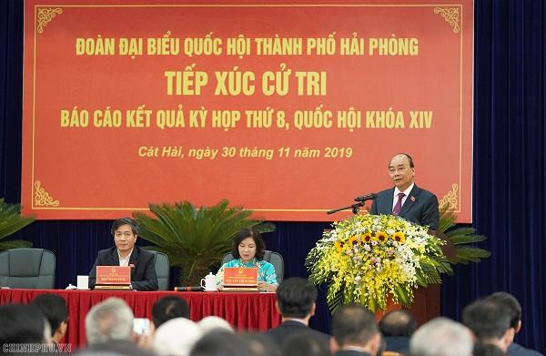 Thủ tướng phát biểu tại cuộc tiếp xúc cử tri