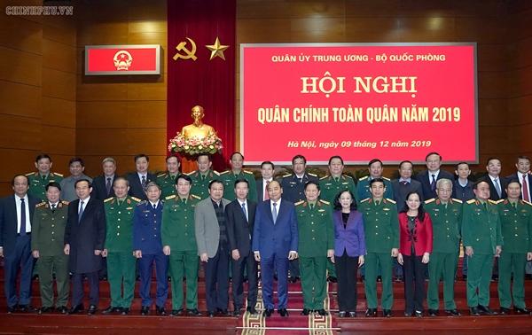 Thủ tướng Nguyễn Xuân Phúc dự Hội nghị quân chính toàn quân năm 2019 (Ảnh VGP/Quang Hiếu)