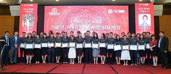 160 thạc sỹ và tiến sỹ xuất sắc trong lĩnh vực khoa học công nghệ, kỹ thuật và y dược đã giành được học bổng của Quỹ Đổi mới sáng tạo Vingroup (VINIF)