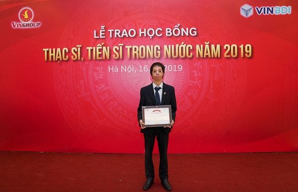 Học viên Phạm Đức Chinh, sinh viên xuất sắc của Đại học Bách Khoa Hà Nội bày tỏ vinh dự khi được nhân học bổng của Quỹ VINIF
