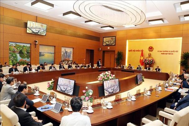Quang cảnh Phiên khai mạc kỳ họp thứ 40 của Ủy ban Thường vụ Quốc hội. Ảnh: Trọng Đức/TTXVN.