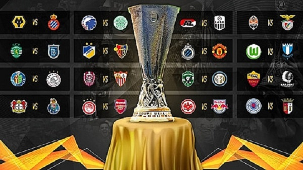 Kết quả bốc thăm vòng 1/16 Europa League 2019/2020