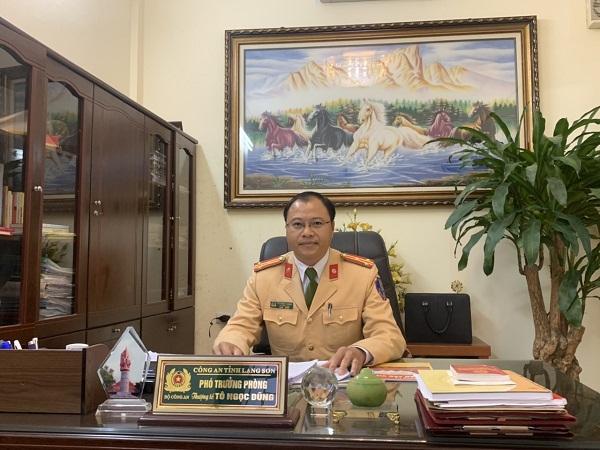 Thượng tá Tô Ngọc Dũng, Phó trưởng phòng CSGT (Công an tỉnh Lạng Sơn)