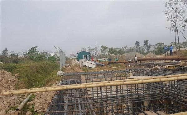 Vị trí nơi Công ty Cổ phần xăng dầu Hưng Yên đang cho xây dựng bến thủy nội địa