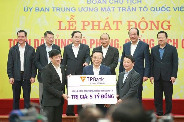 TPBank ủng hộ 5 tỷ đồng chung tay đẩy lùi Covid-19