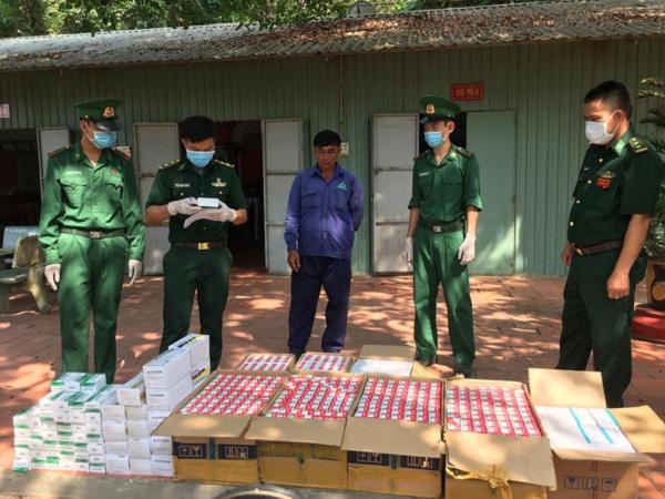 Số tân dược chưa rõ nguồn gốc bị  Biên phòng Tây Ninh phát hiện