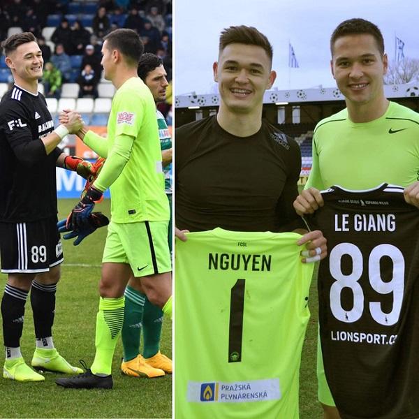 Patrick Lê Giang và Filip Nguyễn đều là sự lựa chọn số một cho vị trí thủ môn tại CLB của họ ở giải VĐQG CH Czech