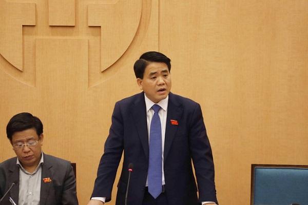 Chủ tịch UBND TP Nguyễn Đức Chung, Trưởng Ban chỉ đạo phòng chống dịch Covid -19