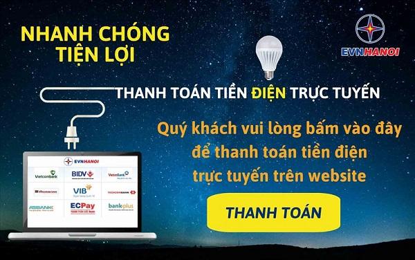 EVNHANOI khuyến khích khách hàng thanh toán tiền điện trực tuyến