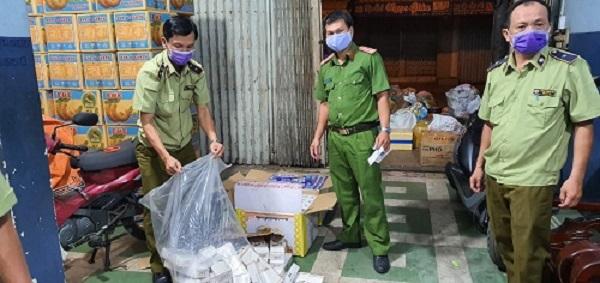 Toàn bộ số thuốc lá nhập lậu được lực lượng QLTT tỉnh An Giang tạm giữ