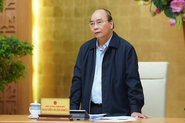 Thủ tướng Nguyễn Xuân Phúc phát biểu tại cuộc họp (Ảnh: VGP/Quang Hiếu)