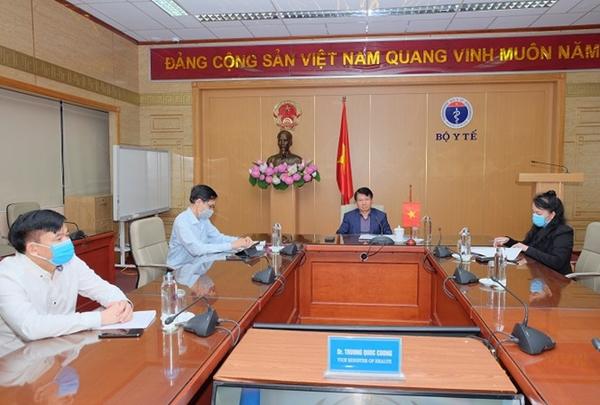 Thứ trưởng Bộ Y tế Trương Quốc Cường tham dự cuộc họp trực tuyến các Bộ trưởng Y tế G20