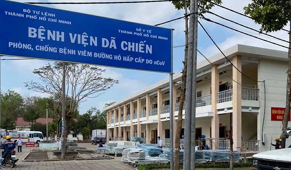 Bệnh viện Dã chiến Củ Chi (TP. HCM) - nơi điều trị cho bệnh nhân 248, mắc Covid-19.