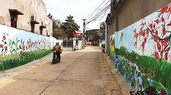 Đường giao thông KDC kiểu mẫu thôn Phai Duốc được nâng cấp sạch đẹp