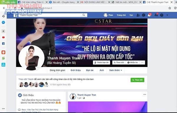 Một trong những tài khoản facebook đang giới thiệu và bán sản phẩm giảm cân L-Star mà Cục ATTP đã khuyến cáo