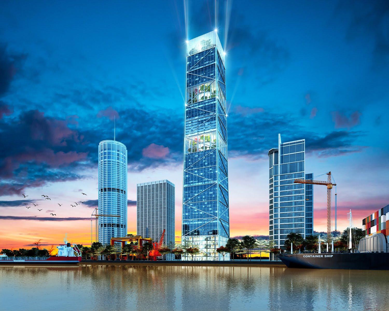 Tòa tháp FLC Diamond 72 Tower cao nhất khu vực Đông Bắc Bộ sẽ sử dụng vách nhôm kính Eurowindow