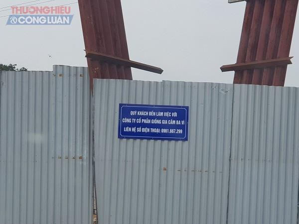 Liên hệ làm việc với CÔng ty CP Giống gia cầm Ba Vì nhưng bảo vệ nơi đây đóng cổng không cho phóng viên vào làm việc