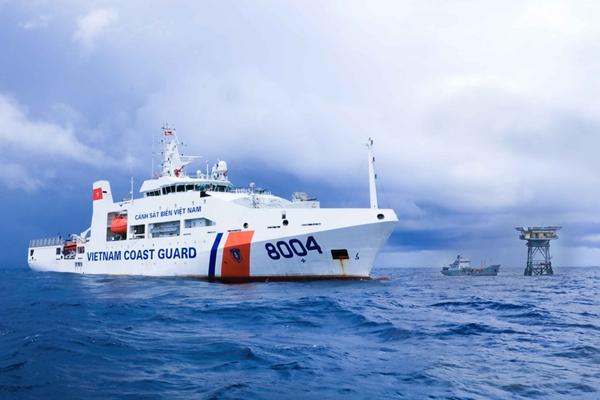 Tàu cảnh sát biển Việt Nam làm nhiệm vụ trên Biển Đông (Ảnh: Cảnh sát biển Việt Nam)